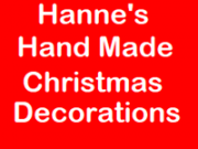 Hanne's Hand Made Christmas Decorations